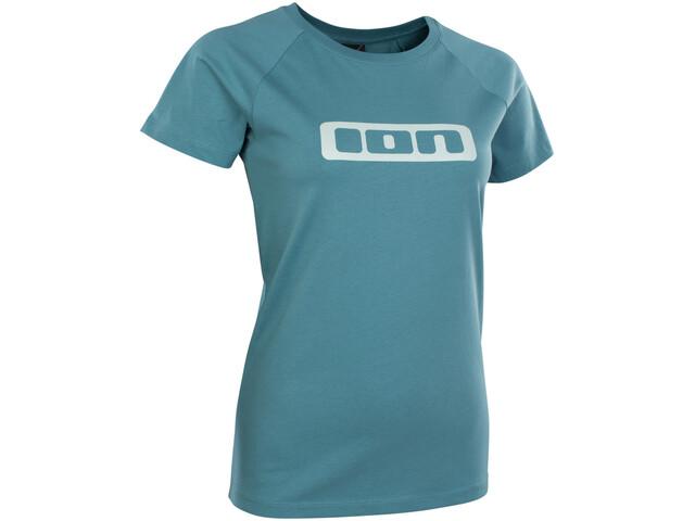 ION Logo Maglietta a maniche corte Donna, laguna green